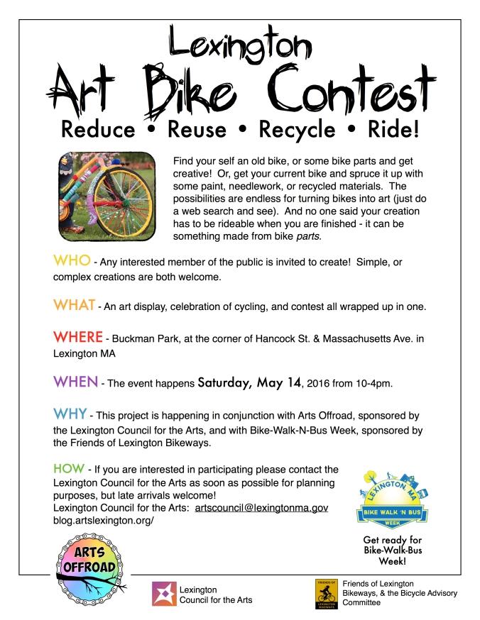 AO bike contest flier